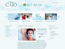Сайт криосауны «CRIO»