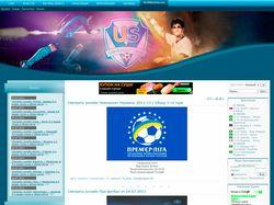 Дизайн / верстка для сайта www.ua-soccer.com
