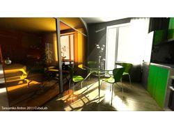 Визуализация перепланировки квартиры по плану.