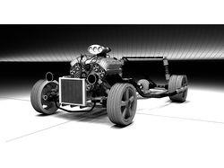 Моделирование Hot-Rod Mercedes-Benz Concept