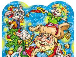 """Новогодняя упаковка сумка """"Дед Мазай"""""""