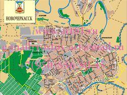 Карта города Новочеркасска