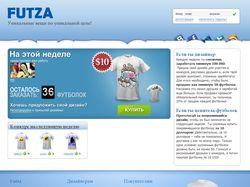 Интернет магазин футболок на основе конкурса