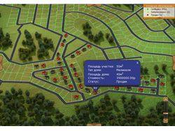 Интерактивная карта коттеджного поселка