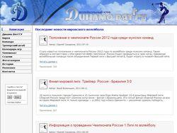 Сайт волейбольного клуба «Динамо ВятГГУ»
