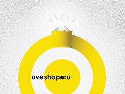 UVEshop logo. Золото.