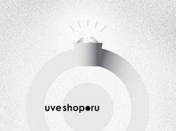 UVEshop logo. Белое золото.