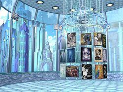 галерея в городе будущего