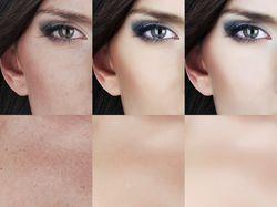Ретуш с сохранением текстуры кожи
