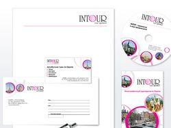 """""""Интур"""" - тураператор: логотип, фирменный стиль"""