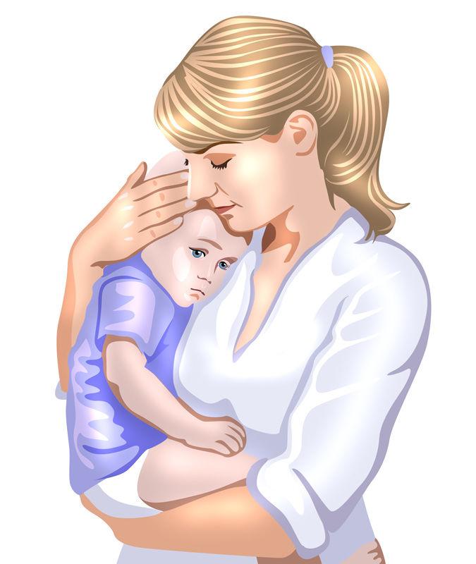 Картинка мама с ребенком