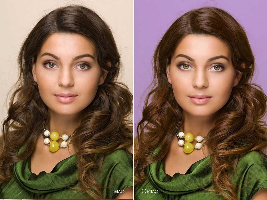 Как без фотошопа поменять цвет фона на фото онлайн