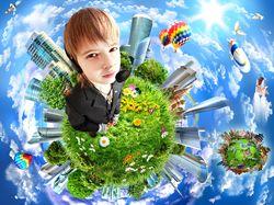 Boy on the planet мальчик на планете
