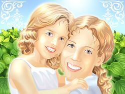 Мама и дочка векторная иллюстрация