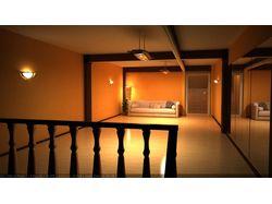 Интерьер комнаты в 3d
