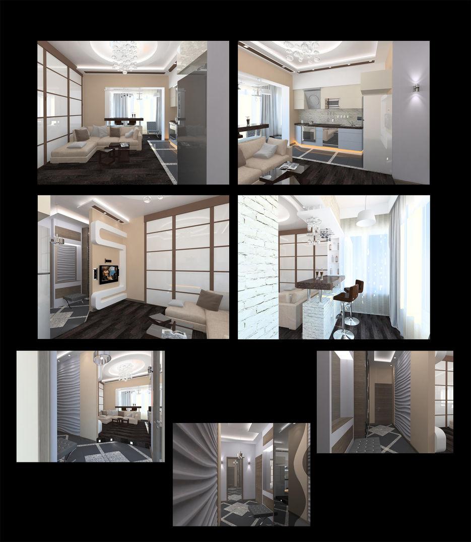 Дизайн квартиры 48 кв.м фото