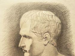 Рисунок гипсовой головы, карандаш