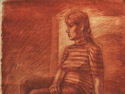 Портрет с натуры, сангина