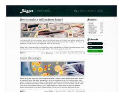 Blogger Theme - шаблон для блогов