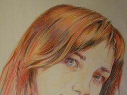 Портрет цветными карандашами от руки