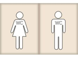Табличка WC