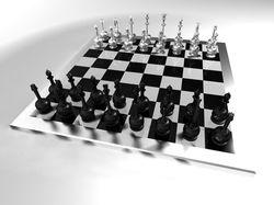 3D модель шахмат