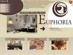 Макет сайта «Ресторан Euphoria»
