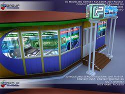 скоростное 3д моделирование небольшого магазина
