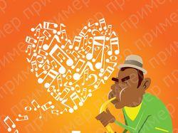 Иллюстрация для статьи о музыке в стиле Jazz