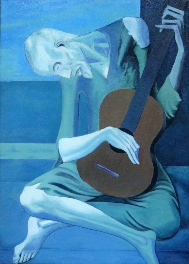 mystery in picasso s the old guitarist Picasso 1903 old guitarist-sympathizing with poverty and alienation from society ( picasso (spaniard) uprooted in france) ( picasso's fear of african masks.