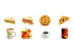 Food icons for game