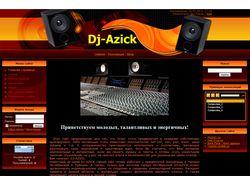 Сайт аранжировщика Dj-azick