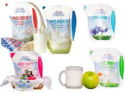 Разработка упаковки серии молочных продуктов