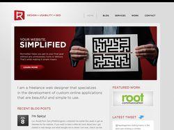 Дизайн сайта для фрилансера. Только макет