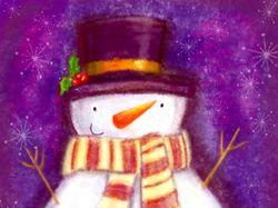 Снеговик. Растр
