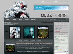Макет сайта игровой тематики