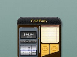 Icon for iphone -gold party