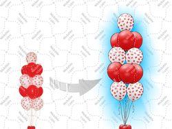 Воздушные шарики поцелуйчик