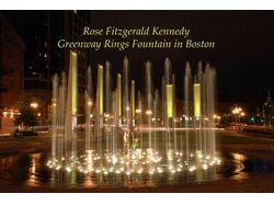 """Слайд Шоу """"Кольцевой фонтан в Бостоне"""""""