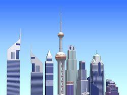 Город будущего точнее отдельные дома