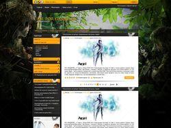 Дизайн игрового портала allforgamer.ru