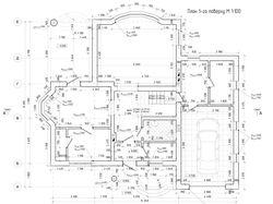 Чертеж плана 1ого этажа