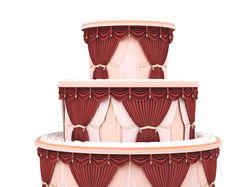 3D модель торта из штор