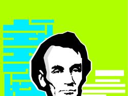 ABRAHAM LINCOLN GEEK PORTRAIT