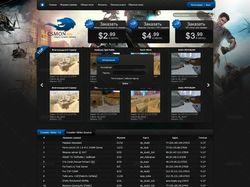 Дизайн мониторинга серверов csmon.info