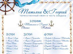 Листовка на свадьбу рассадки гостей