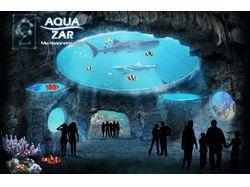 Флеш шапка для сайта aquazar.ru