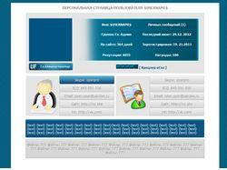 Персональная страница пользователя