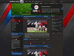 Дизайн игрового портала FIFA