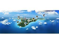 Коллаж-иллюстрация для туристического сайта